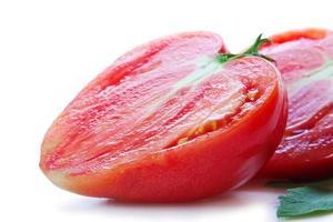 Large heart-shaped tomatoes. photo