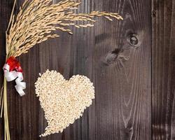 Rice spike and heart photo