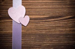 corazones de madera. foto