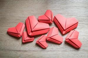 corazones de papel foto