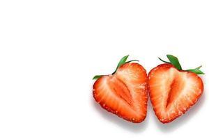 corações de morango