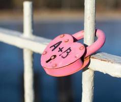 Pink lock photo