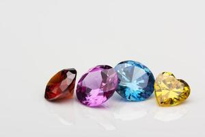 gemas de cuatro colores foto