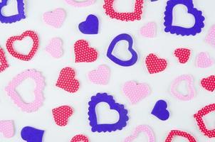 colored hearts symbols