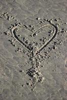 Amor en la playa junto al mar en el noroeste del Pacífico de Oregon foto