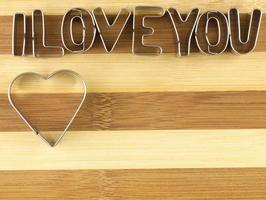 Love and bread cutting board. photo