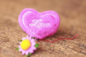 heart on wood - Stock Image photo