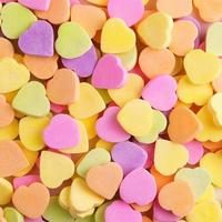 Colorful candy hearts. Background photo