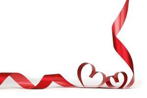 marco de corazones de cinta foto