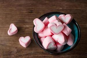 Heart shape marshmallows