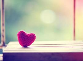 corazón rojo vintage foto