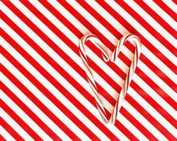 corazón de bastón de caramelo