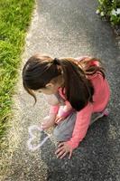 Sidewalk Chalk Heart photo