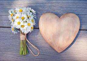 heart and daisies photo