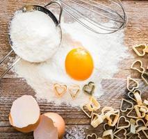 Heart shaped pasta photo