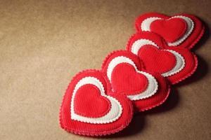 Four Fabric Hearts
