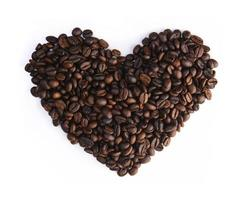 corazón de granos de café
