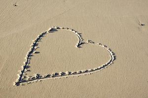 Heart in sand photo
