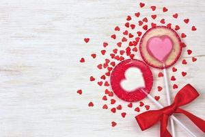 red heart lollipops photo