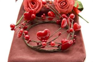 Heart and rose with bag photo