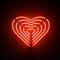 red_heart_shaped_five_neon_lights foto