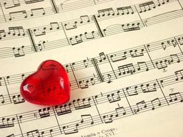 Music score & heart photo