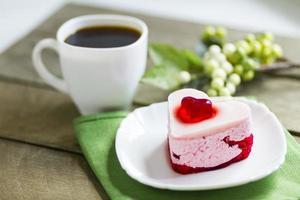 Black coffee and cake, Valentine
