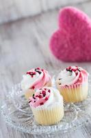 Valentines Day Cupcakes and Pink Heart photo