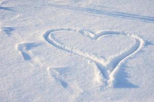 Heart on the snow