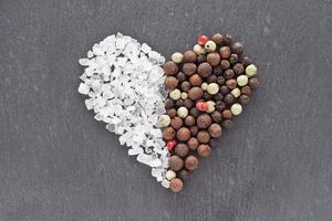 Salt and pepper heart