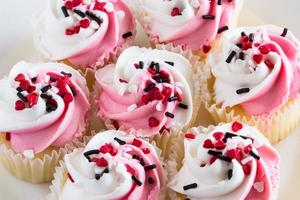 Valentines Day Cupcakes Close Up photo