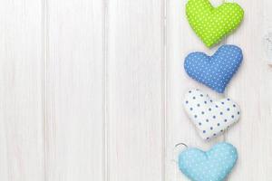 corazones de juguete del día de san valentín foto