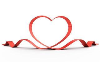 Heart from a ribbon.