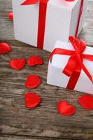 Gifts and red hearts