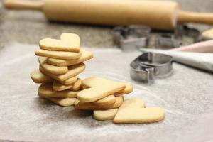 Stack of heart cookies