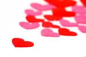 muchas formas de corazón de colores foto