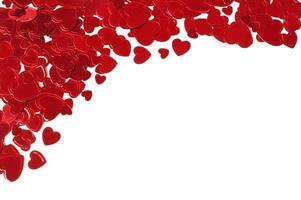Confetti hearts corner border