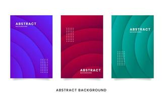 Colorful Abstract Radial Cards vector