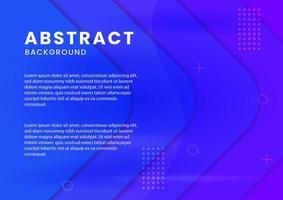 Abstract Blue Geometric Arrow Papercut Design vector