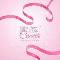Breast cancer awareness design with ribbon