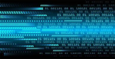 diseño de tecnología futura del circuito cibernético de flecha azul