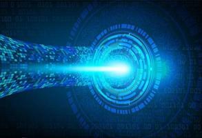 concepto de tecnología futura del circuito cibernético del ojo azul