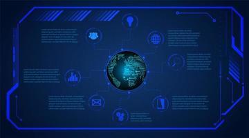 Blue Binary Circuit Board Future Technology