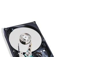 Primer plano de un disco duro de 3,5 pulgadas foto