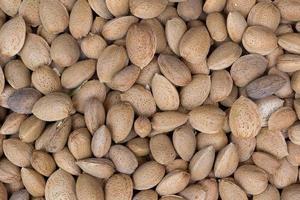 Brown almonds background photo