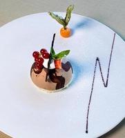 hermoso postre de chocolate