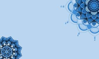 Beautiful blue color mandala background vector