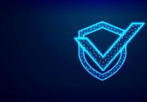 escudo com marca de seleção segurança de rede, proteção, privacidade