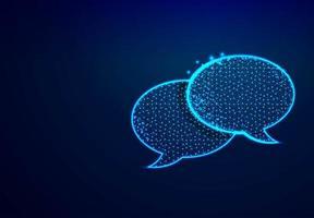 diálogo chat nubes discurso burbuja iconos estructura alámbrica vector