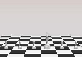 juego de ajedrez, concepto de ideas de estrategia empresarial vector